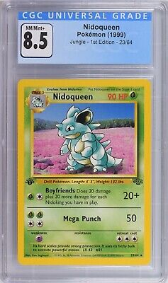 Pokemon - CGC 8.5 Nidoqueen 23/64 Jungle 1st Edition BGS 9 PSA 9