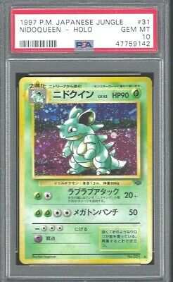 Nidoqueen Japanese Pokemon 1997 Jungle Holo Card #31 Psa Gem Mint 10