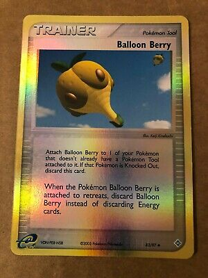 Pokemon Balloon Berry 82/97 Ex Dragon Reverse Holo NM See Pictures