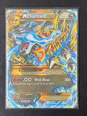 Pokemon, M Charizard EX 108/106, XY - Flashfire, Secret Rare, Near Mint
