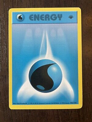 1999 Pokemon Card Edition 1st Edition Base Set Shadowless Water Energy 102/102