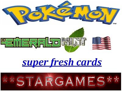 Pokemon Ex Emerald (◕‿◕✿) Cards Mint Super Fresh Straight From Booster Choice