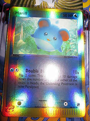Pokemon Mint (◕‿◕✿) Ex Sandstorm English Marill Reverse 68/100 Com 1ed (2003)
