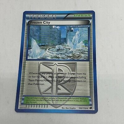 Frozen City Pokemon Card BW Black & White Plasma Freeze 100/116 Light Play 2013