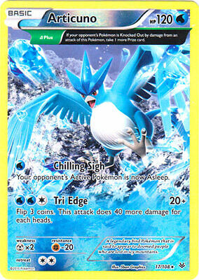 Pokemon - Articuno - 17/108 (Reverse Foil) - XY Roaring Skies - Rare - Played