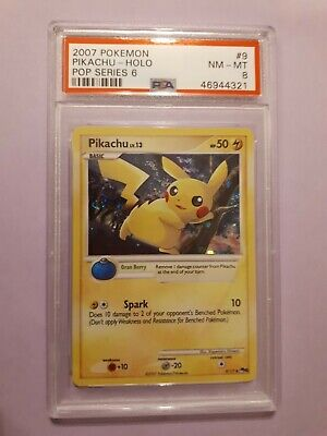 PSA 8 NM/Mint - 2007 Pokemon POP Series 6 Pikachu HOLO #9/17