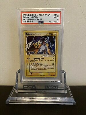 ⚡️ Raikou Gold Star Holo 114/115 Pokemon EX Unseen Forces PSA 9 Mint ⚡️