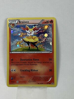 BRAIXEN XY161 Holo Ultra Rare Black Star Promo Pokemon Cards Near Mint