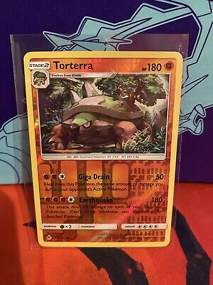 x1 Torterra - 58/131 - Rare - Reverse Holo Pokemon SM6 Forbidden Light M/NM