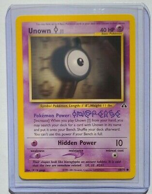 Pokemon Card - Unown I 68/75 - Neo Discovery - Excellent Condition
