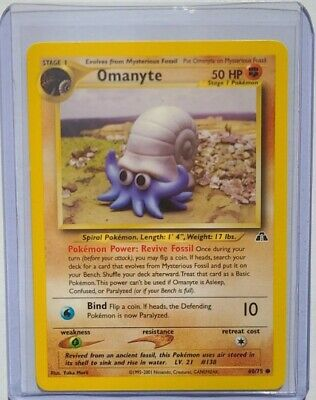 Pokemon Card - Omanyte 60/75 - Neo Discovery Set - Excellent Condition