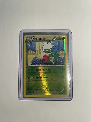 2012 pokemon Dragons Exalted reverse holo Roserade 14/124