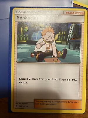 Pokemon Sun & Moon Burning Shadows: Sophocles - 123/147 - Trainer 2017