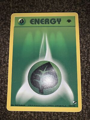 Grass Energy 129/132 1st Edition Gym Heroes Pokemon Card