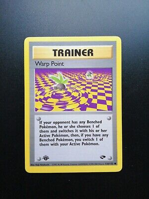 1st Edition Warp Point Trainer 126/132 - Gym Challenge Pokemon Card PSA