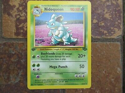 Vintage 1999 First Edition Jungle Pokemon Card #23/64 Nidoqueen