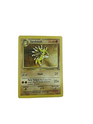 Sandslash - 41/62 Fossil Set - 1999 Pokemon Card NM