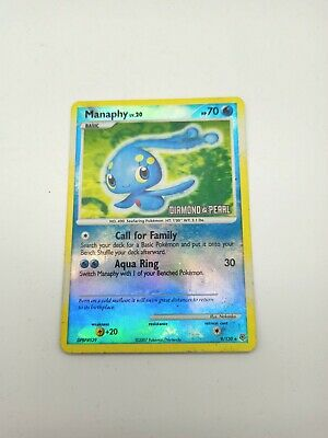 Manaphy 9/130 Reverse Holo - Diamond & Pearl Stamped Pre-Release Pokemon Card