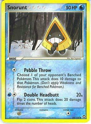 Snorunt 064 NM Parallel Foil EX Power Keepers Pokemon Card Tracked Shipping