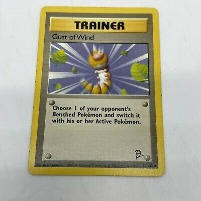 Pokemon Gust of Wind 93/102 Base Set 2 Trainer Card Wizards The Coast Wotc 1999