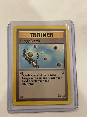 ENERGY SEARCH TRAINER 59/62 NM-M Fossil Base Set Pokemon Card
