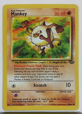 Mankey 55/64 - NM / M - Jungle Set Pokemon Card Unplayed - $1 Combined Shipping