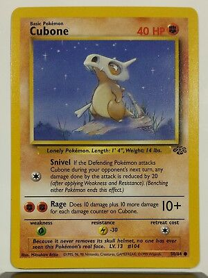 Cubone 50/64 - NM / M - Jungle Set Pokemon Card - $1 Combined Shipping Unplayed