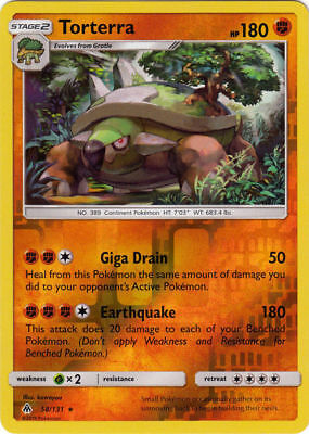 Torterra - 58/131 Reverse Holo Foil Pokemon Forbidden Light