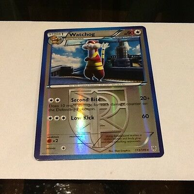 Pokemon Reverse Holofoil Watchog Card From The Plasma Storm Set 113/135 X