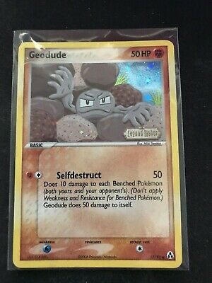 Pokemon TCG Legend Maker Geodude 53/92 Reverse Holographic Stamped Card NM