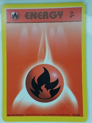 Fire Energy 126/130 - VLP - Base Set 2 Pokemon Card - $1 Combined Shipping