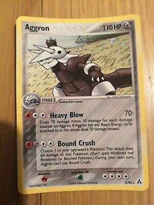 Aggron Holo Pokemon Card Legend Maker 2/92