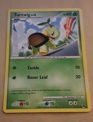 Pokemon Promo Card - Pop Series 6 - Turtwig 17/17 - V Rare - Nm