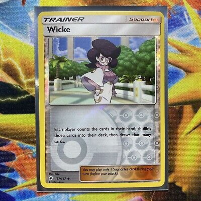 Pokemon : SM BURNING SHADOWS WICKE 127/147 UNCOMMON REVERSE
