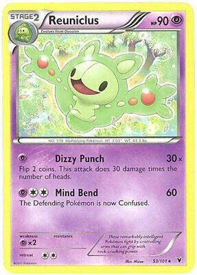 Pokemon Card - Noble Victories 53/101 - REUNICLUS (rare) - NM/Mint