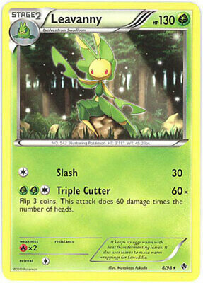 Pokemon Card - Emerging Powers 8/98 - LEAVANNY (rare) - NM/Mint