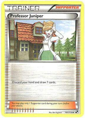 Pokemon Card - Black & White 101/114 - PROFESSOR JUNIPER (uncommon) - NM/Mint