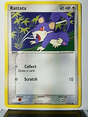 Rattata 77/112 - VLP / NM - 2004 EX FireRed LeafGreen Pokemon Card