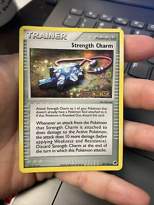 STRENGTH CHARM 81/101 Holo Stamped EX DRAGON FRONTIERS Pokemon Card NM