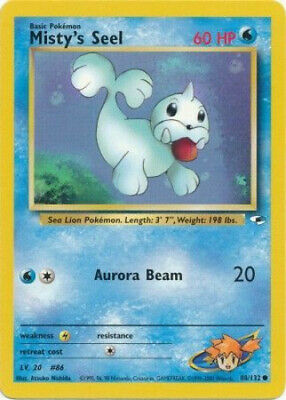 Pokemon Card - Gym Heroes 88/132 - MISTY'S SEEL (common) - NM
