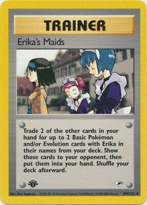 Pokemon Card - Gym Heroes 109/132 - ERIKA'S MAIDS (uncommon) **1st Edition** NM