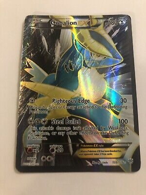 POKEMON Card Cobalion EX Plasma Storm Holo Rare Full Art 133/135 Damaged Cheap