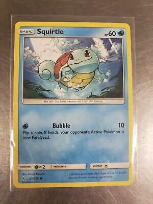Pokemon S&M Unbroken Bonds Set COMMON Squirtle 33/214 - Near Mint (NM) Condition