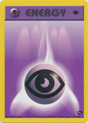 Pokemon Card - Gym Challenge 131/132 - PSYCHIC ENERGY (common) *1st Edition* NM