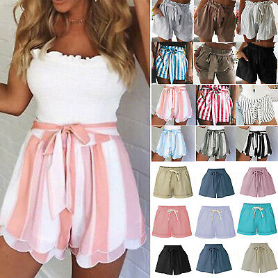 a3399999c4809 Womens Summer Shorts High Waist Girls Casual Beach Hot Pants Loose Skorts  Pants