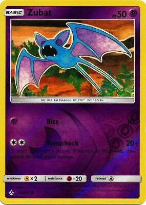 Zubat - 64/214 - Common - Reverse Holo - S&M: Unbroken Bonds - Pokemon
