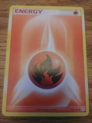 Fire Energy 124/130 POKEMON Card Diamond & Pearl Common