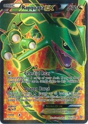 Rayquaza-EX - 123/124 - Full Art Ultra Rare PL Dragons Exalted Pokemon