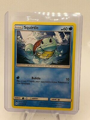 Squirtle  33/214  S&M: Unbroken Bonds   Common  Mint/NM  Pokemon