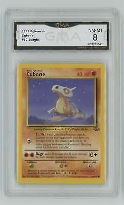 1999 Pokemon Unlimited Jungle #50 Cubone GMA 8 Nm-Mt H88